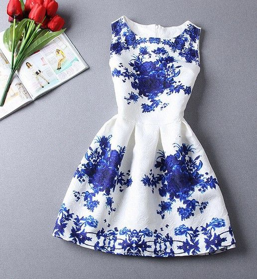 Women Summer Casual Vintage Sexy Party Floral Dress