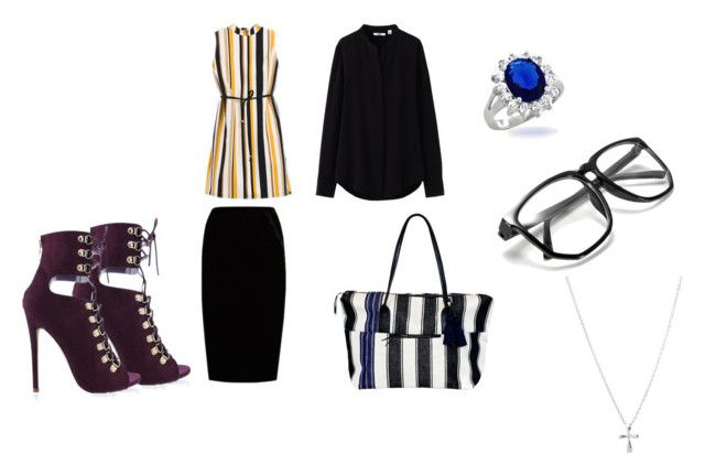"""""""Me as a professional :D"""" by racheldenisnefeke ❤ liked on Polyvore featuring Chico's, Uniqlo, Jupe By Jackie, Mercado Global and Bling Jewelry"""