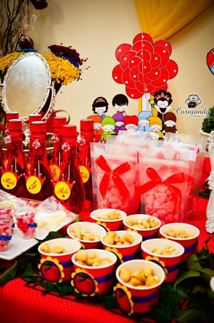 Snow White Themed Birthday Party With So Many Adorable