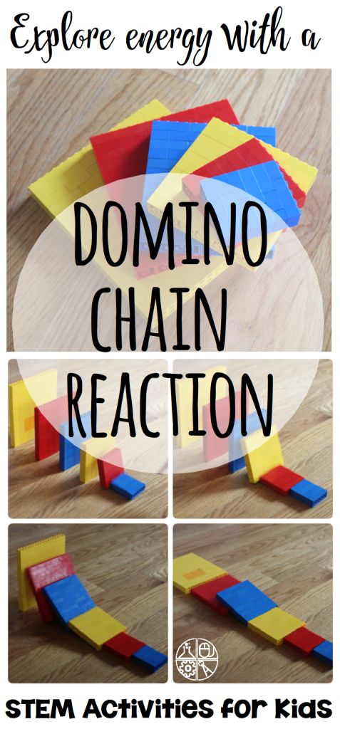 LEGO Domino Chain Reaction - explore kinetic and potential energy while playing with LEGOs! | STEM Activities for Kids