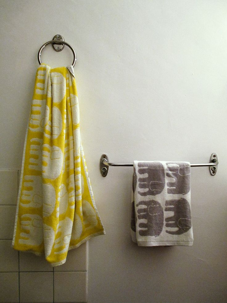 Finlayson Elefantti towels, designed by Laila Koskela in 1969