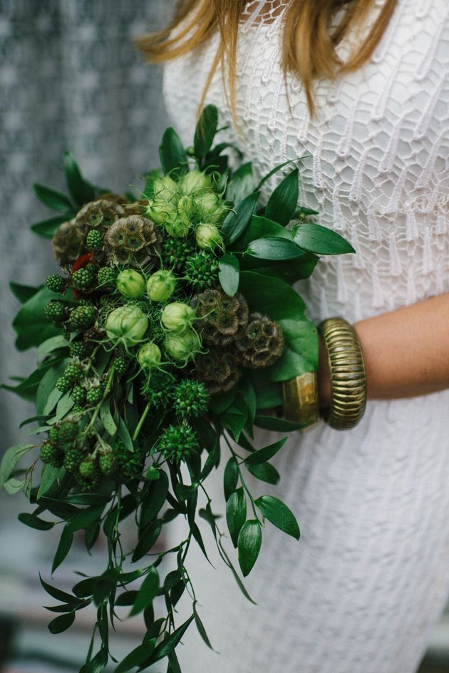 bridal bouquet inspiration | all green bouquet | v/ bridal musings |