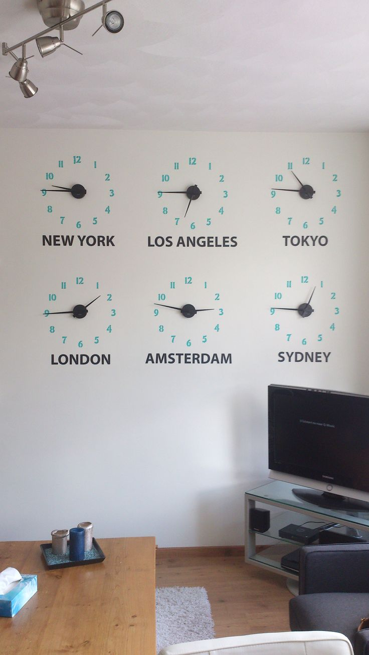 Sticker wall clock uk - Www Vinylimpression Co Uk Clock City Name Wall Sticker With Custom Numbers To