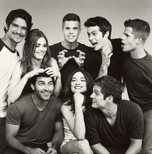 Tyler Posey, Holland Roden, Charlie Carver, Dylan O'Brien, Max Carver, Tyler Hoechlin, Crystal Reed and Daniel Sharman.
