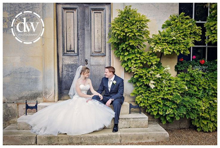 Bride and Groom Wedding Portrait at Downing College, Cambridge