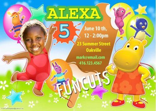 The Backyardigans Invitation, Kids Birthday Invitation, Party Invites