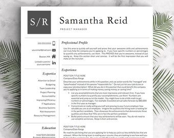 Professional Resume Template For Word And Pages (US Letter And A4) 1, 2  Us Resume Template