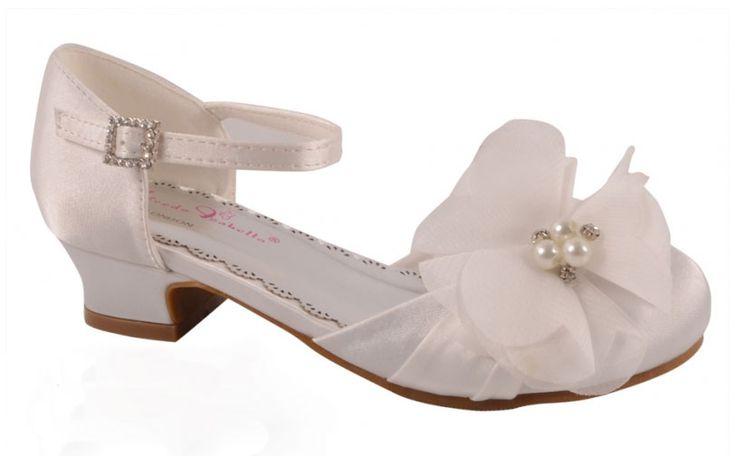 """Παπούτσια για Παρανυφάκια - Επίσημα Παπούτσια για Κορίτσια :: Παιδικά Σατέν Παπούτσια Για Κορίτσια, Γοβες Για Παρανυφάκι - Γάμο, Βάπτιση, Πάρτι Σε Λευκό """"Penelope"""" - http://www.memoirs.gr/"""
