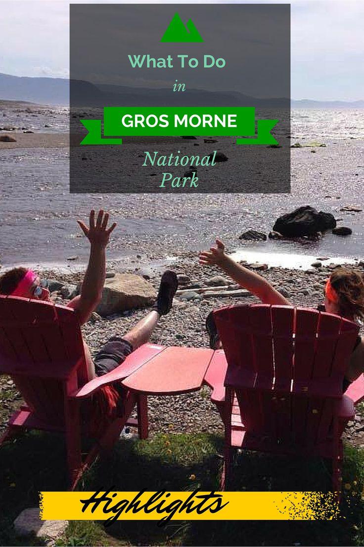 The highlights of Gros Morne National Park, Newfoundland, Canada. …