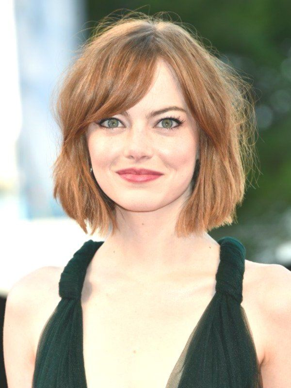 Medium-length hair is especially good on round fac…