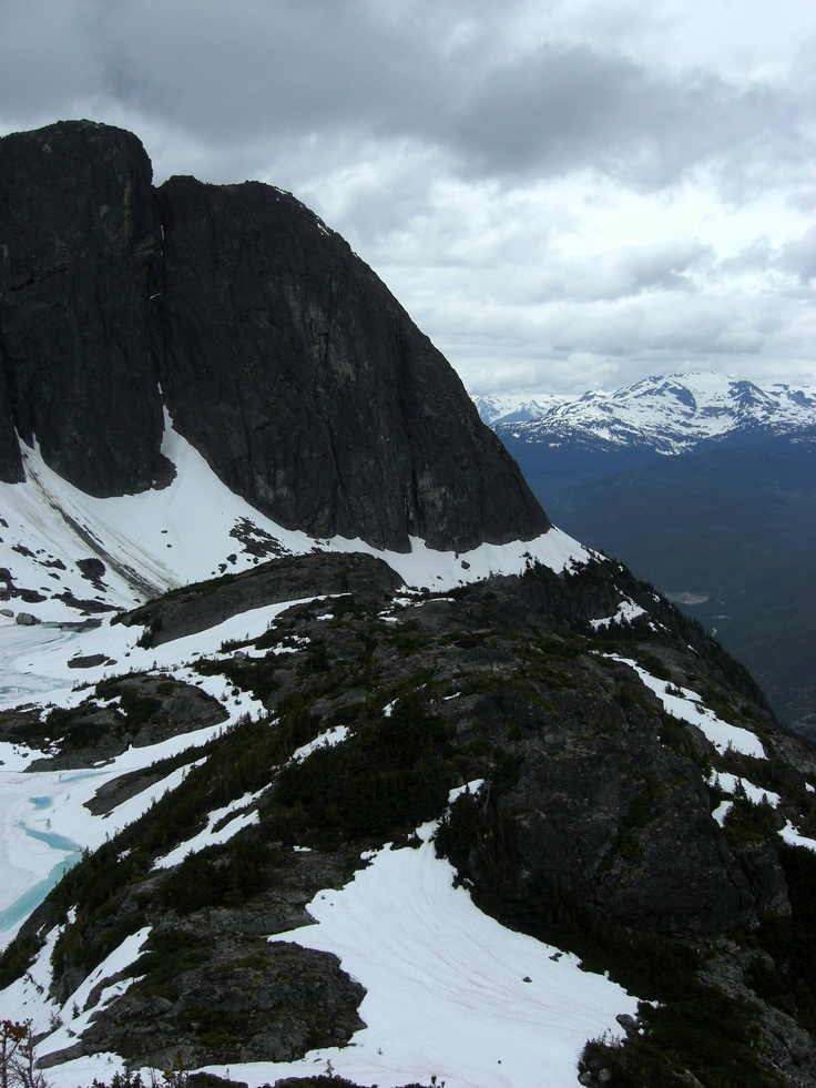 Wedgemount Couloir, towards Rethel and Rainbow Mountains, British Columbia