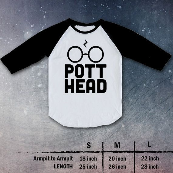 Pott Head harry potter draco malfoy Shirt Raglan christmas gift present