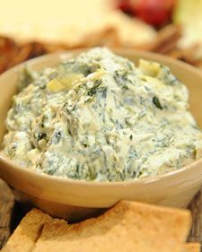 This classic spinach and artichoke dip from Kors d'Oeuvres founder Korey Provencher can be made in advance and stored for up to two weeks for an easy holiday appetizer.       Also Try: World's Greatest Onion Dip