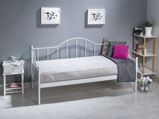 łóżko Dover Białe Metalowe Młodzieżowe W 2019 łóżko