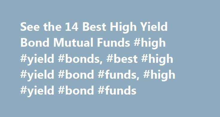 See the 14 Best High Yield Bond Mutual Funds #high #yield #bonds, #best #high #yield #bond #funds, #high #yield #bond #funds http://ghana.remmont.com/see-the-14-best-high-yield-bond-mutual-funds-high-yield-bonds-best-high-yield-bond-funds-high-yield-bond-funds/  # High Yield Bond The investment seeks the highest total return over time consistent with an emphasis on both capital growth and income. The fund invests in a diversified portfolio of other T. Rowe Price stock and bond funds that…