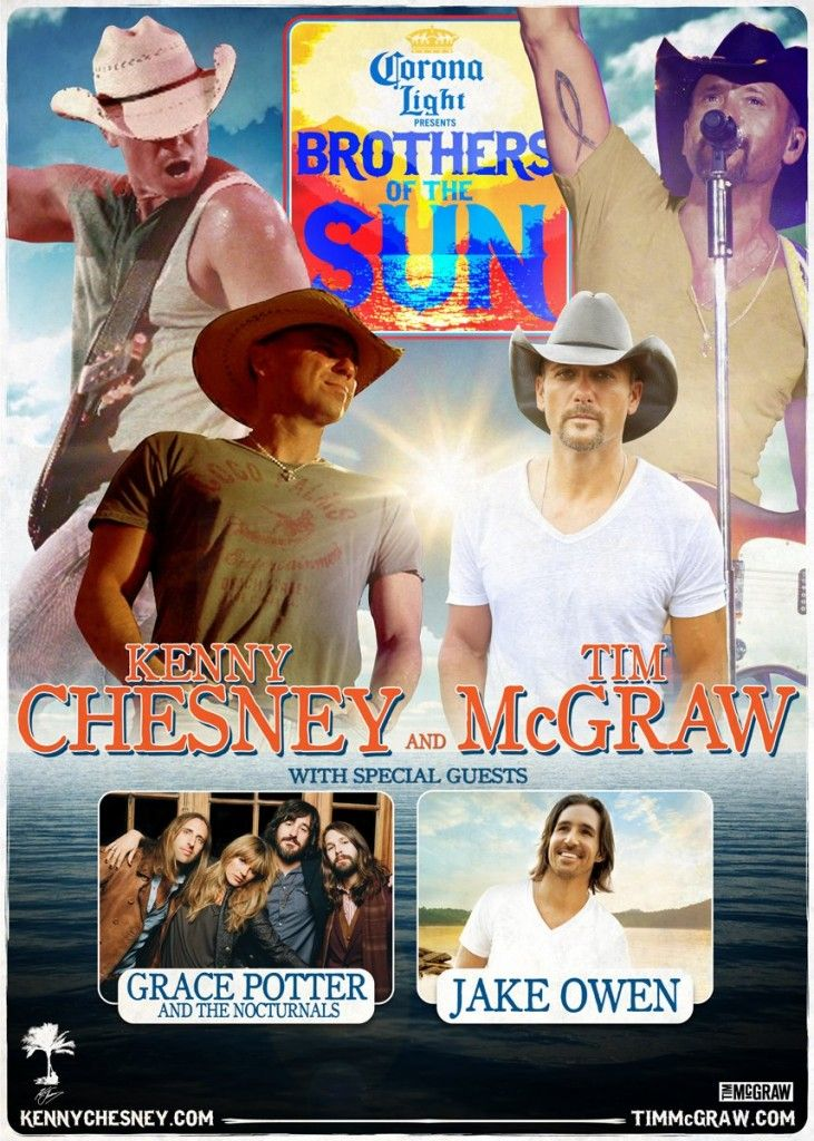 Kenny Chesney & Tim McGraw Along With Massive Production Readied For 19,000+ Mile Brothers Of The Sun Tour