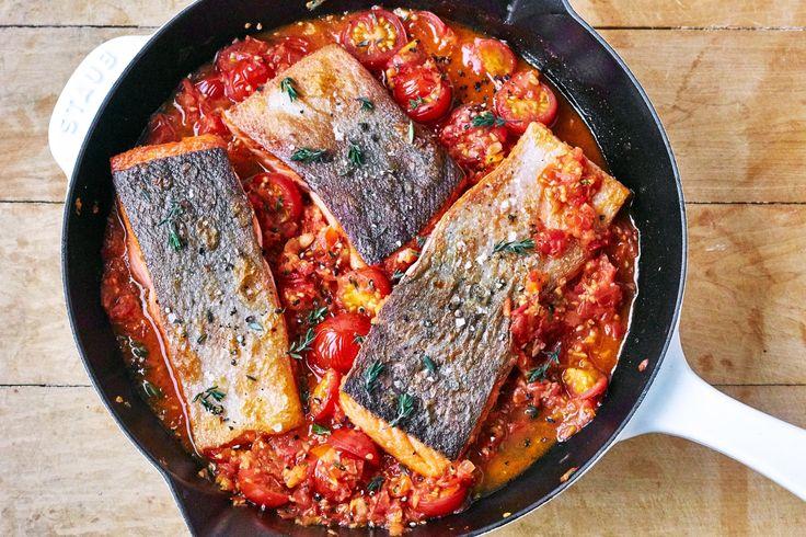 saucy skillet salmon