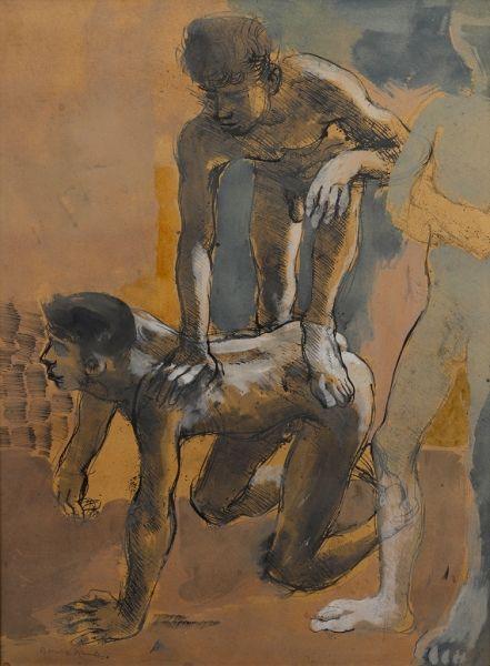 Donald Friend - Untitled (Figures)