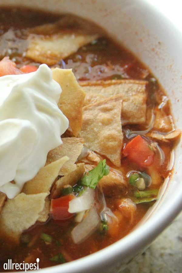 "Slow-Cooker Chicken Tortilla Soup | ""This was a hit! Super easy and very tasty."""