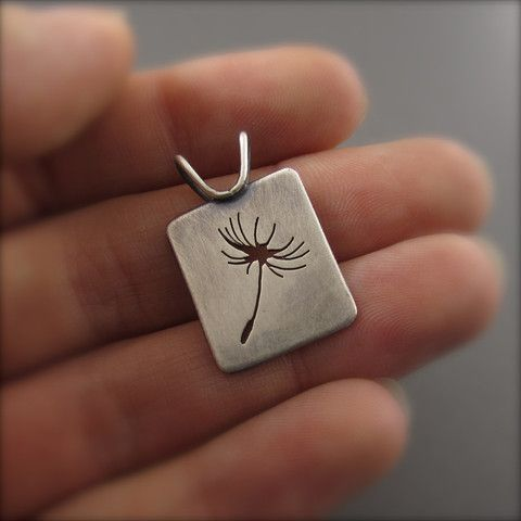 Silver Dandelion Seed Memorial Scholarship Fundraiser Pendant – Beth Millner Jewelry