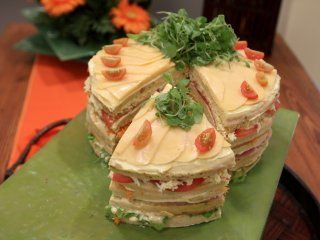 Receta de Torta salada