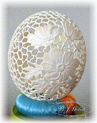 ostrich egg - jajko strusie Bogusława Justyna Goleń Poland https://www.facebook.com/azurowepisanki1/…
