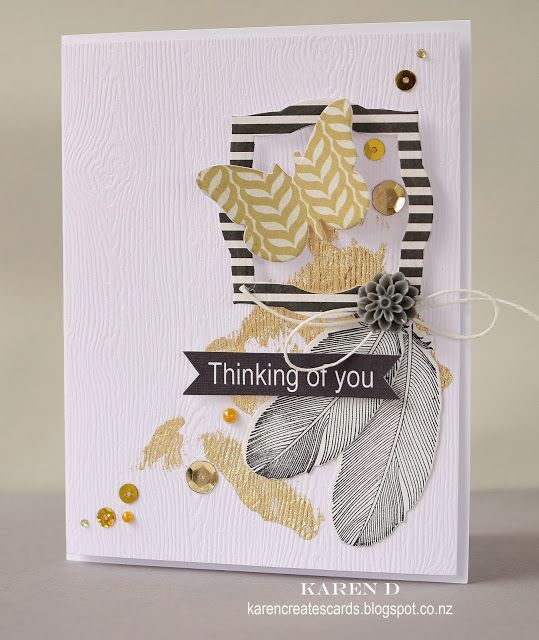 Karen Creates Cards: CASE Study Challenge #169 - Playing with gold leaf