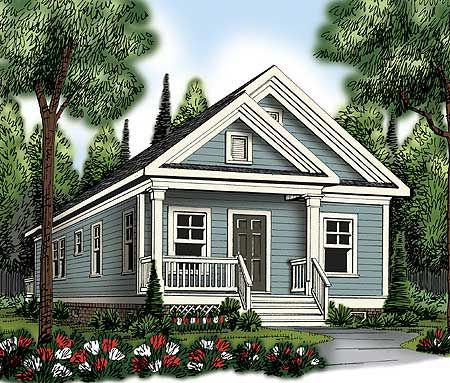 2 bed bungalow with vaulted interior and just under 1,000 sq ft. Architectural Designs House Plan 75470GB. Ready when you are. Where do YOU want to build?