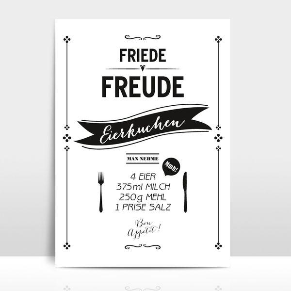 """A4+Typo+Print+""""Eierkuchen""""+von+Amy+&+Kurt+Berlin+auf+DaWanda.com"""