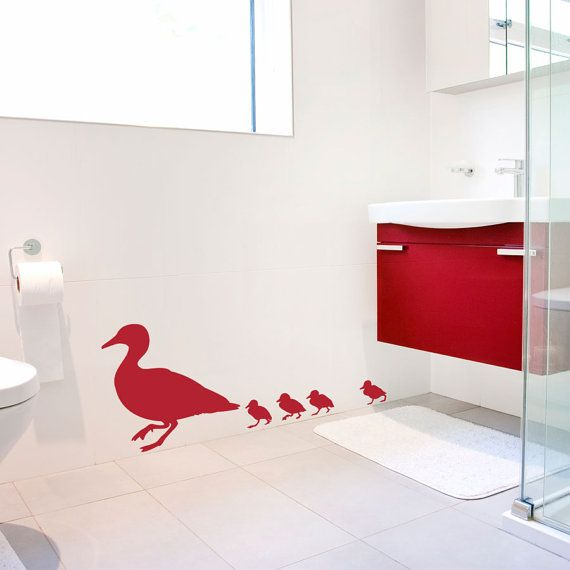 Family of Ducks Wall Decal - Vinyl Wall Decal Sticker ...