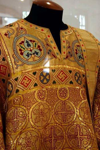 Vestments of the priest of Eastern-Orthodox church, XVI. Russia, Moscow, museum of the Novodevichy monastery