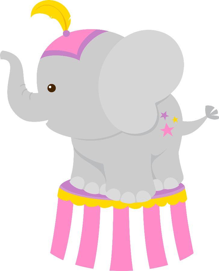 Cute circus elephant