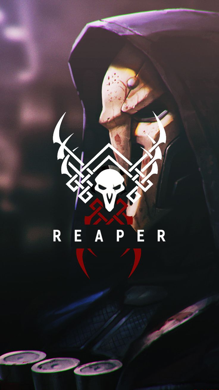Overwatch - Reaper Wallpaper Mobile, C L W N on ArtStation at https://www.artstation.com/artwork/aDk6z (Top Design)