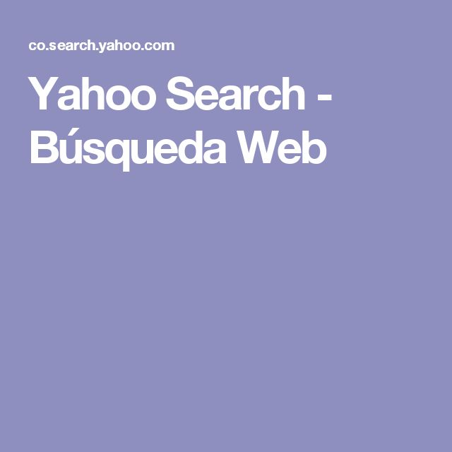 Yahoo Search - Búsqueda Web