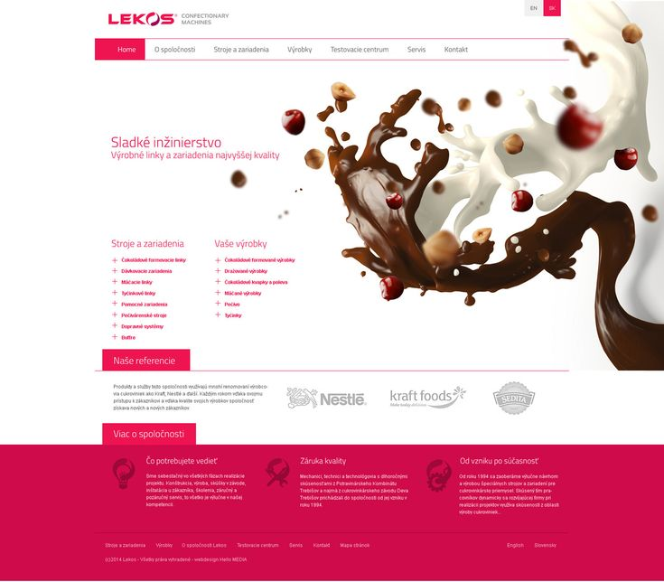 LEKOS SWEET ENGINEERING - LOGO AND BRANDING FOR Strojárne - THIS IS SWEET ENGINEERING  - International company from Slovakia which manufactures equipment for production of all kinds of sweets. However we had totackle the ubiquitous gray paint of the machines. Themes Sweet Engineering in the form of chocolate hearts and treble clef in this area are unique and help to distinguish the brand…