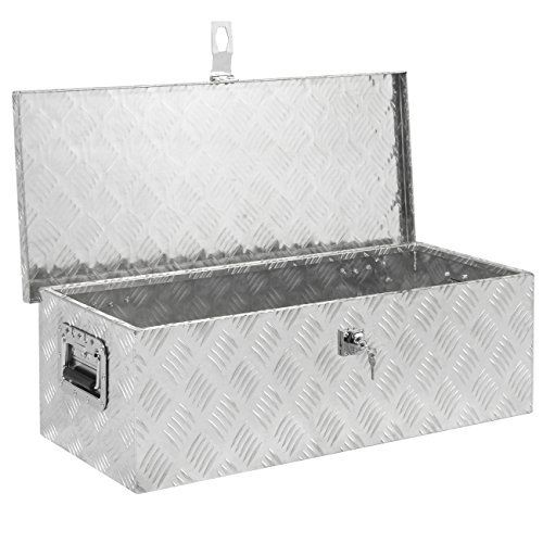 Best Choice Products 30 Aluminum Camper Tool Box W/ Lock Pickup Truck Bed ATV Trailer Storage by Best Choice Products
