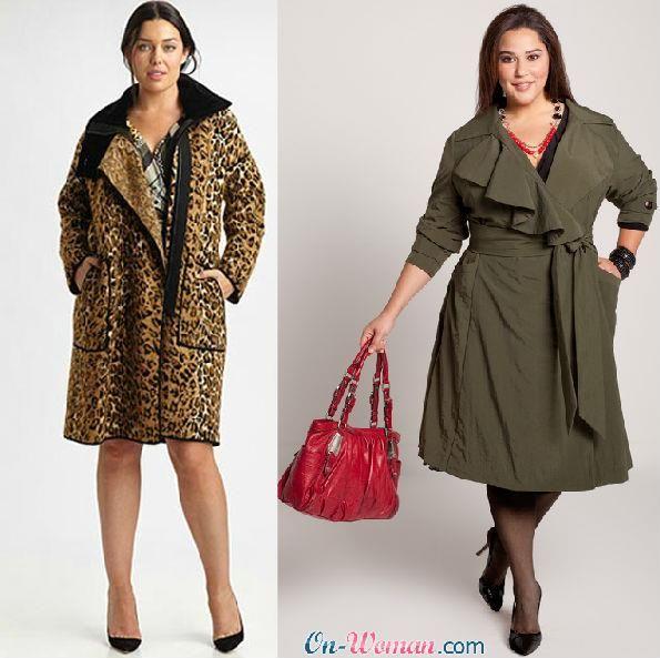 Одежда женская куртки пальто для полных женщин
