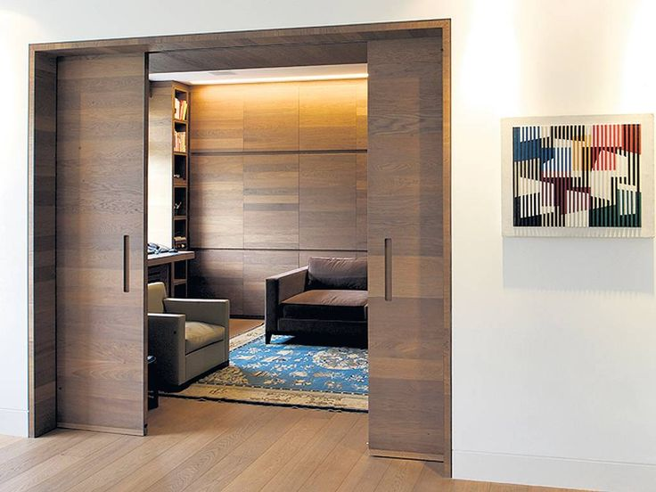 Panel party: A plywood paneled living room