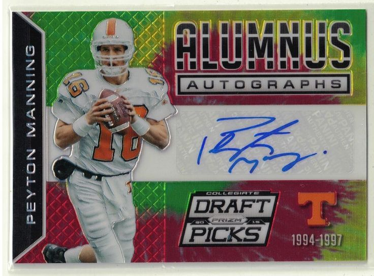 2015 Prizm Draft Football Peyton Manning Autograph 1 of 1 Tie Dye Card Tennessee #NFLDenverBroncosIndianapolisColts @Vol_Football