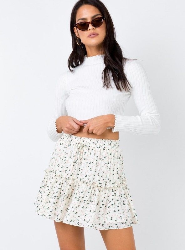 Princesspolly Wrap Mini Skirt Skirts