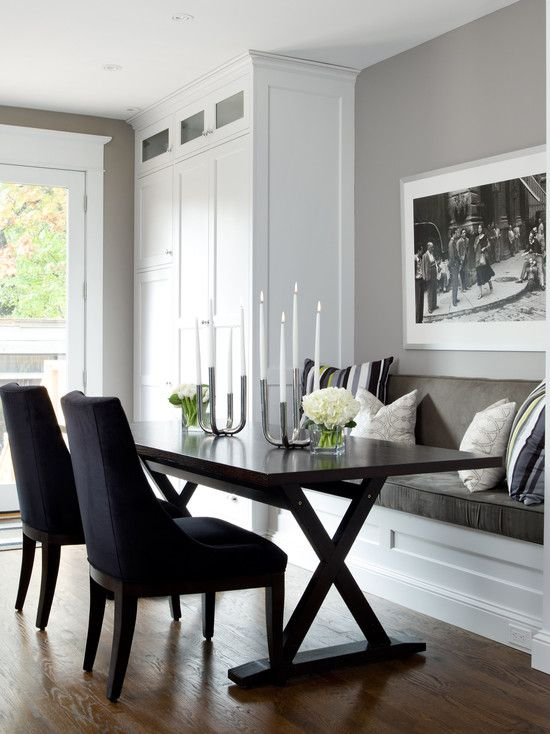 Banquette Seating in Kitchen Reno by JANE LOCKHART!  I love Jane from HGTV's 'Get Color' and 'Color Confidential'!