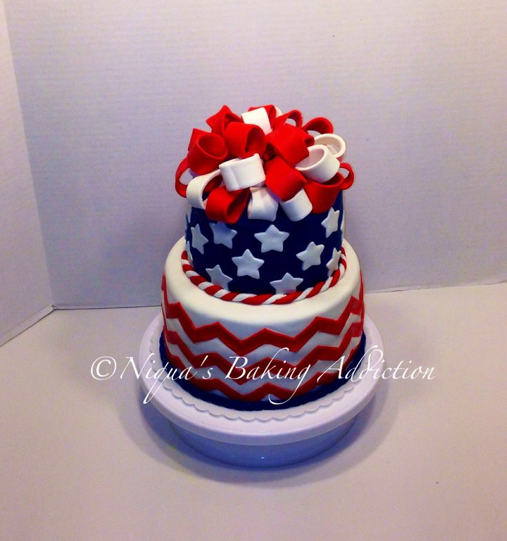 34 best independence day cakes images on pinterest for American flag cake decoration