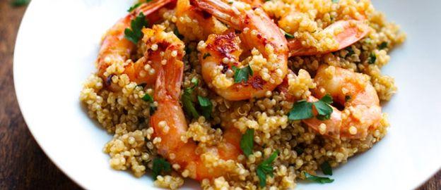 Quinoa met garnalen en knoflookboter ♥ Foodness - good food, top products, great health