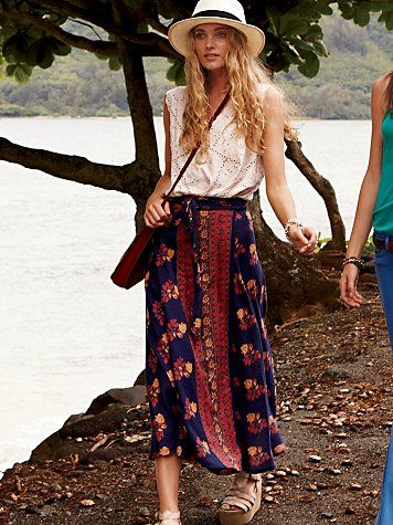 Cantina Wrap Maxi Skirt at Free People Clothing Boutique