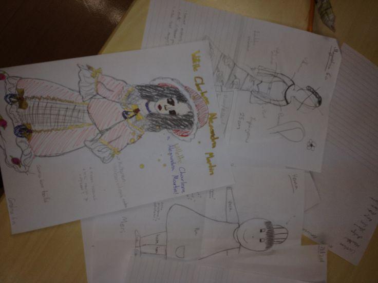 Suunnitelma nuken mallista,vaatteista ja ulkonäöstä työn perustana. Projekti toteutettu yhdessä työparin kanssa.