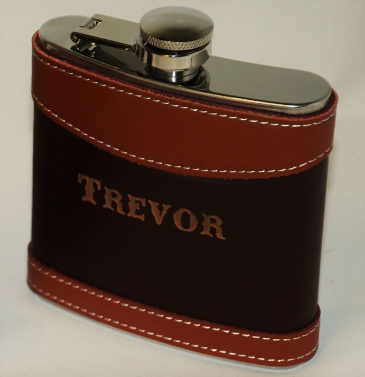 Set of five Two Tone Leather Flasks Wedding party favors, Groomsmen flask, Best man flask, engraved, Custom 6oz flask., flask, personalized by MemoriesMadeCustom on Etsy