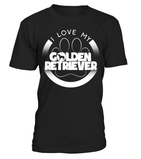 # Funny Golden Retriever Gift I Love My Golden Retriever Circle Paw Chunky Font Logo .  Golden Retriever gifts and stuff for golden retriever lovers. Check out our entire golden retriever collection of funny golden retriever shirts.golden-retriever-grandpa, goldne-retriever-clothing, golden-retriever, golden-retrievers, golden-retriever-t-shirt, golden-retriever-grandma, golden-retriever-gifts, golden-retriever-clothes