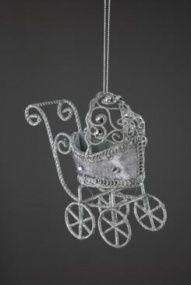 Дизайнерские елочные украшения Серебро