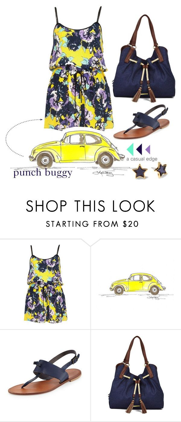 """""""Punch Buggy"""" by astylemave ❤ liked on Polyvore featuring River Island, Joie, Marc by Marc Jacobs, Liz Claiborne and denim"""