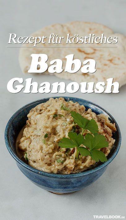 """""""Baba Ghanoush"""", so heißt ein Auberginen-Dip aus der orientalischen Küche. Die Zubereitung geht einfach und schnell, wie das leicht abgewandelte Rezept von Foodbloggerin Julia Uehren zeigt."""